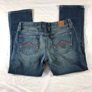 Lucky Brand Lola Crop Capri Jeans Midrise Curvy 4